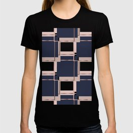 Abstract luxury Square pattern T-shirt