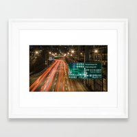 seoul Framed Art Prints featuring Seoul Traffic by Clayton Jones
