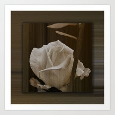 The Wooden Rose Art Print