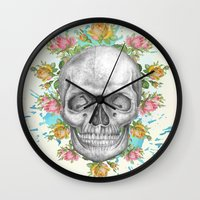 pie Wall Clocks featuring Sweetie pie by Ginger Pigg Art & Design