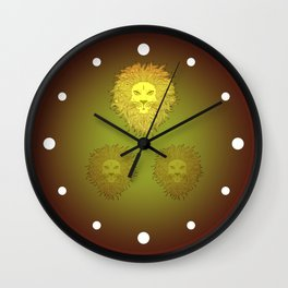 Brown Lion Wall Clock