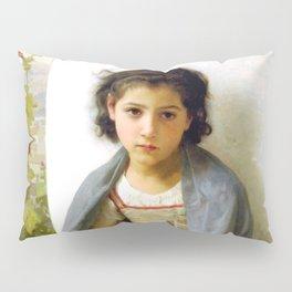 """William-Adolphe Bouguereau """"The Little Knitter"""" Pillow Sham"""