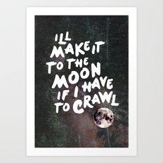 To the Moon Take 2 Art Print