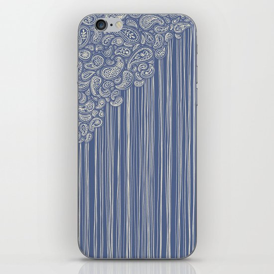 The Unraveling of Paisley Lace (in blue and cream) iPhone & iPod Skin