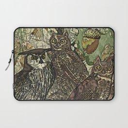 My owls in batik style Laptop Sleeve