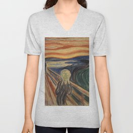 The Scream, Edvard Munch, classic painting Unisex V-Neck