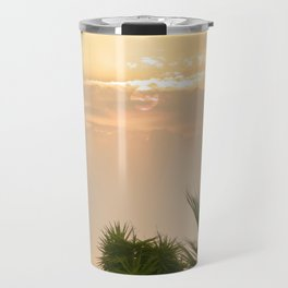 cloudy sky in the oasis Travel Mug