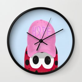 The Warrior Ladybug Wall Clock