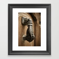 Door Knocker: Valencia, Spain Framed Art Print