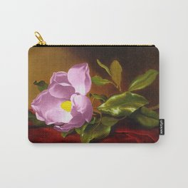 A Lavender Magnolia on Red Velvet by Martin Johnson Head Carry-All Pouch