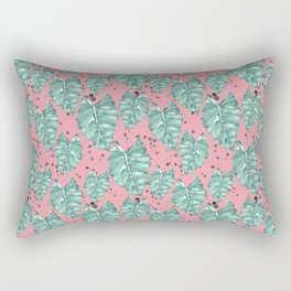 Watercolor tropical leaves pattern Rectangular Pillow