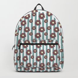 Echinacea Striped Floral Print Backpack