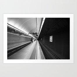 Metro B and W Art Print