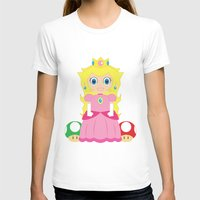 princess peach T-shirts featuring Princess Peach by Xiao Twins