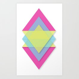 CMY Pattern Art Print