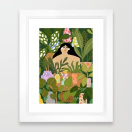 I Need More Plants Framed Art Print