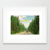 never stop exploring Framed Art Prints featuring NEVER STOP EXPLORING IV by Leslee Mitchell