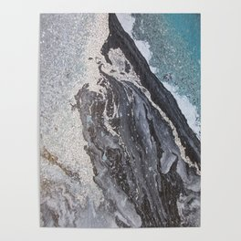 Acrylic marbling painting 0II Poster