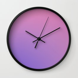 TAINTED CANDY - Minimal Plain Soft Mood Color Blend Prints Wall Clock