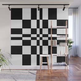 Intersections Black and White Wall Mural