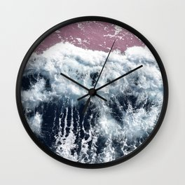 Aerial View, Blue Waves Wall Clock