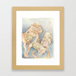 Cauliflower Eaters Framed Art Print