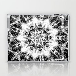 Atomic Black Center Swirl Mandala Laptop & iPad Skin