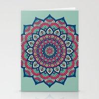 islam Stationery Cards featuring Mandala Blue by Mantra Mandala