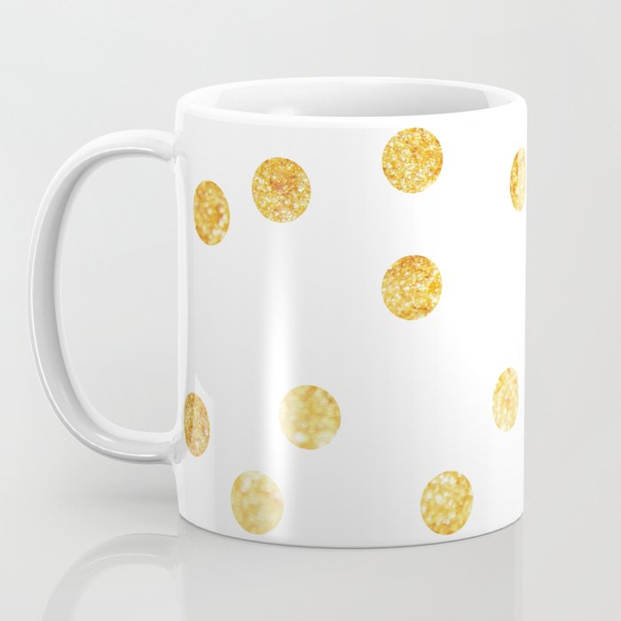 Gold Dots Coffee Mug