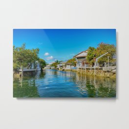 Key Largo Canal 3 Metal Print
