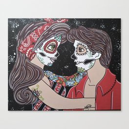 Rockabilly Sugar Skull Canvas Print