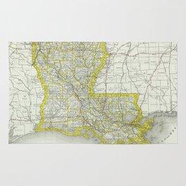 Vintage Map of Louisiana (1889) Rug
