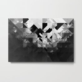 Abstract Black Geometric Metal Print