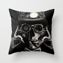 'Steampunk Deceased' Throw Pillow