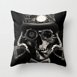 Steampunk Skull Gothic Victorian Horror Art Throw Pillow