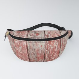 Rustic red wood Fanny Pack