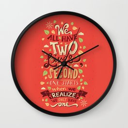 Two Lives Wall Clock