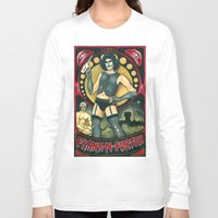 rocky horror Long Sleeve T-shirts featuring Frank-N-Furter - Rocky Horror Picture Show by DanaRobinson