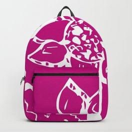 Sunflower white and burgundy pattern Backpack