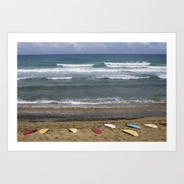 Boards Lined Up Art Print