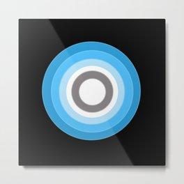 Minimalist Circle of Light Metal Print