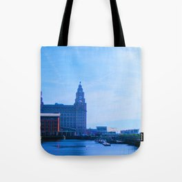 Liver Building from Princes Dock Tote Bag