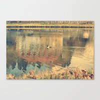 lonely Canvas Prints featuring Lonely by Rose Etiennette