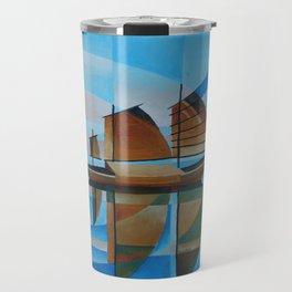 Soft Skies, Cerulean Seas and Cubist Junks Travel Mug