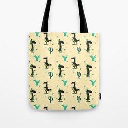Cute Desert Dinosaurs Tote Bag