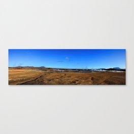 Namafjall geothermal Iceland Panorama Canvas Print