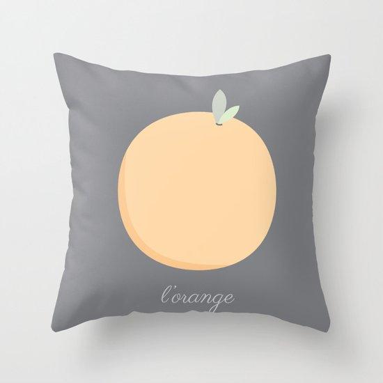 L'orange Throw Pillow