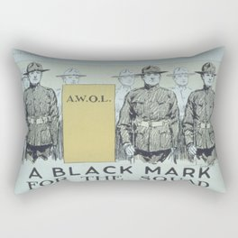 Vintage poster - A Black Mark for the Squad Rectangular Pillow