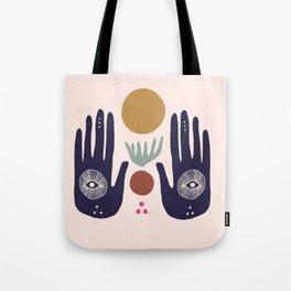 Hasma Hand Mural Tote Bag