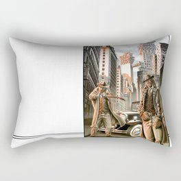 Detectives from other worlds Rectangular Pillow